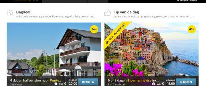 De goedkoopste vakantie aanbiedingen en Hoteldeals